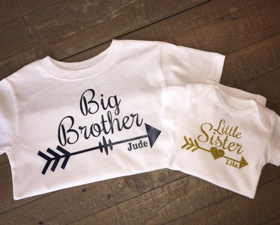 Personalized Big Sister Little Brother Arrow by TugboatsAndTutus
