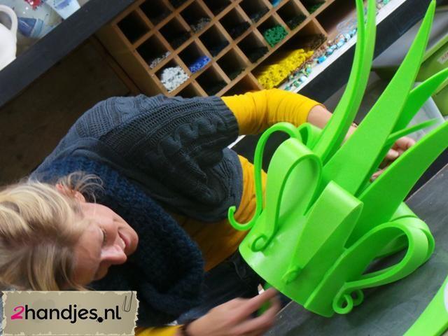 In enkele uurtjes een foamhoed of pruik maken #workshop #carnaval #hooddeksel carnaval #DIY