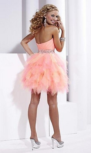 Hannah S Short Strapless Dress 27716
