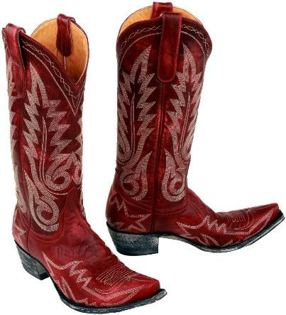 - Toe: 4Long - Heel: 9964 - Shaft: 13 in - These red boots turn heads - A classic boot with white stitching - Goat Leather - Handcrafted