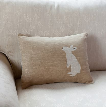 Hessian Bunny Cushion. Pillow IdeasHessianHome AccessoriesSoft ...