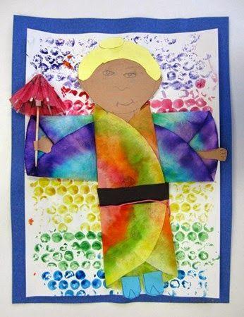One Crayola Short: People Wearing Kimonos-Third Grade