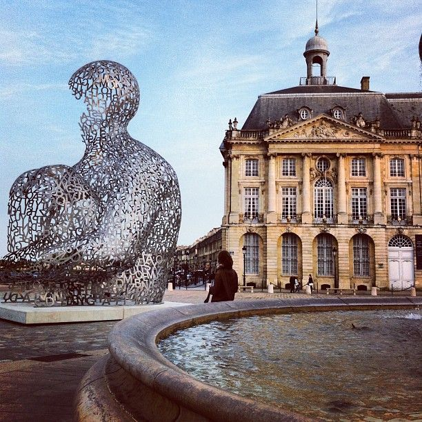 Place de la Bourse is part of the Port of the Moon, Bordeaux, which has been listed by UNESCO as World Heritage Site since 2007. Get your copy of the best #Frenchphrasebook available in the market today: Talk in French's Phrasebook will help you travel in France with confidence. Includes a FREE AUDIO, menu reader, cultural guide, pronunciation help, and more. https://store.talkinfrench.com/product/french-phrasebook/