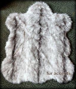 36 Faux Fur Rug Sheep Skin Accent Gray Chinchilla Throw Minky Soft New | eBay
