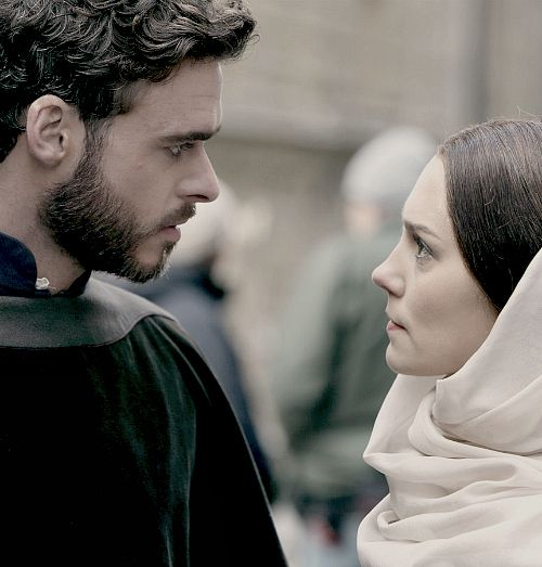 The Angst! Richard Madden and Annabel Scholey as Cosimo de Medici and Contessina de Bardi in Medici: Masters of Florence