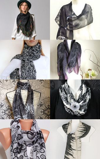 Black scarf collection by Stuart McWilliam on Etsy--Pinned with TreasuryPin.com