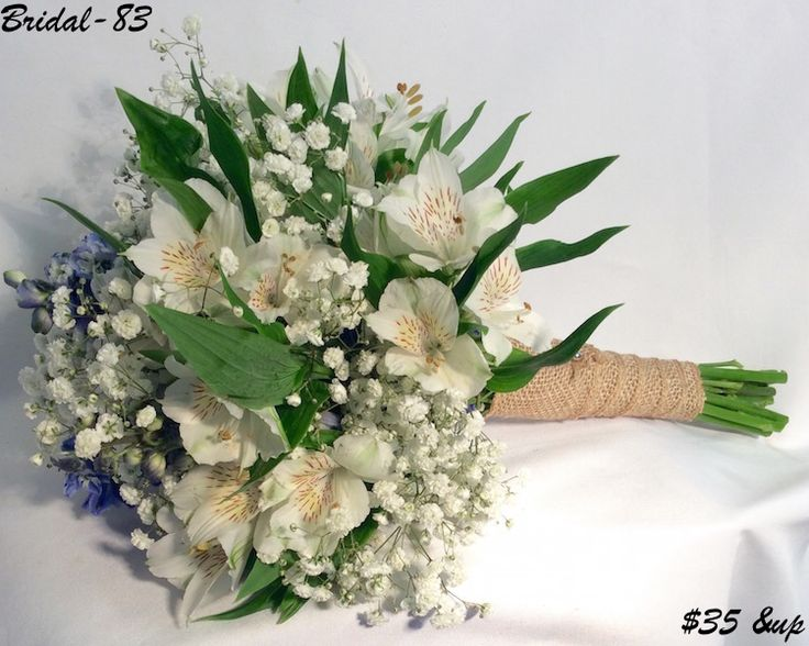 Simple Alstroemeria bridal bouquet starting at $35