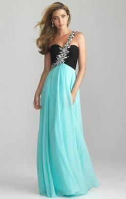 Pretty Floor Length Multicolour Evening Formal Dress Color: Blue Green, Pink Fabric: Chiffon Neckline: One Shoulder Sleeve: Sleeveless Waist: Natural Length: Floor Length Embellishment: Beads,Crystal Details Fully Lined: Yes Custom-Tailor: Yes