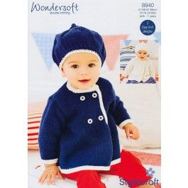 Coats and Berets in Stylecraft Wondersoft DK (8940) £2.99