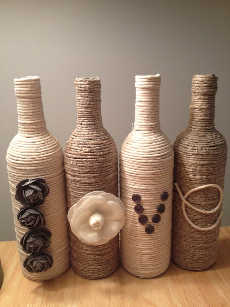 Cute and easy craft for recycling your used wine bottles.