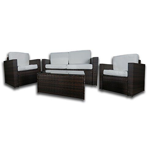 Dirty Pro Tools™ Brown Colour PU Rattan Garden Furniture Sofa Set Outdoor  Patio Conservatory Wicker