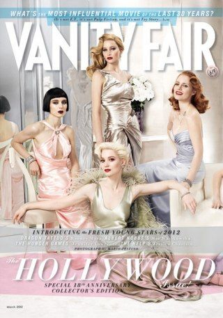 Rooney Mara, Jennifer Lawrence, Mia Wasikowska and Jessica Chastain for Vanity Fair