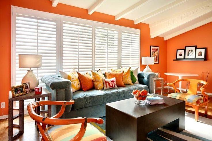 оранжевый цвет интерьер