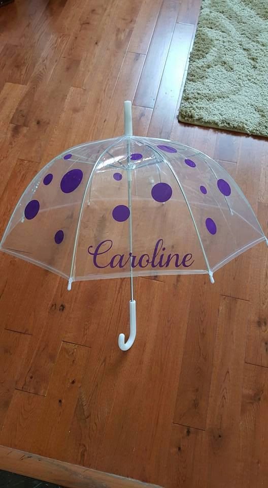 Monogrammed Kids Umbrella, Personalized Childrens Umbrella, Polka Dot Umbrella, Monogram Umbrella, Umbrellas for Girls, Umbrellas for Boys, Umbrellas