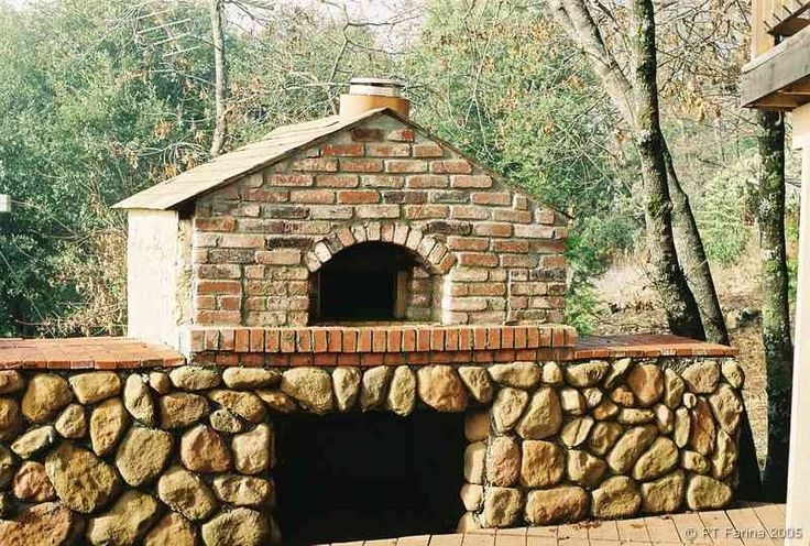 The fellow who posted this picture said, he would have cleaned the cement from the back before it dried. I agree. But it is a really nice pizza oven. :0)