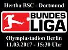#lastminute  2 Tickets Hertha BSC Berlin  BVB Borussia Dortmund (11.03.17) Kurve Marathontor #deutschland