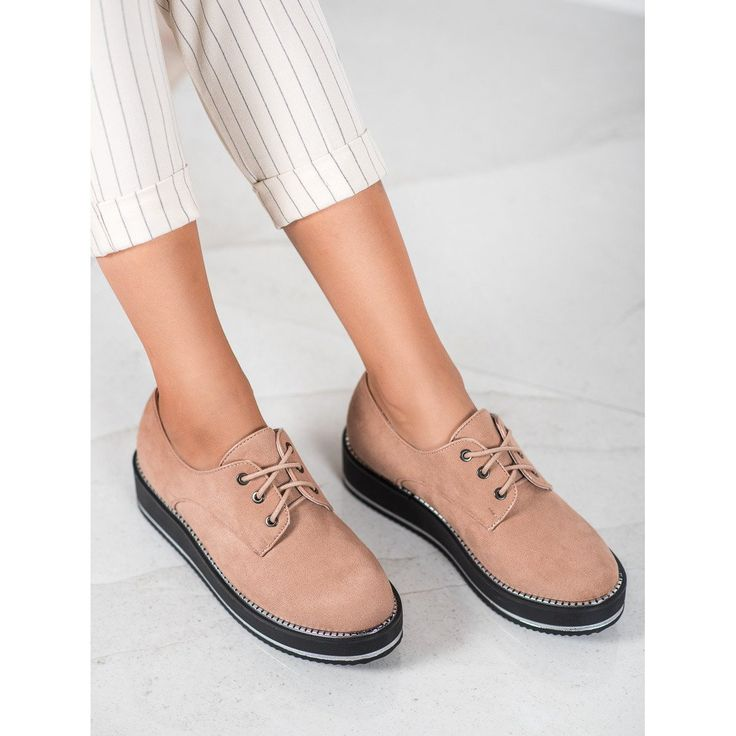 Forever Folie Polbuty Na Platformie Rozowe Oxford Shoes Womens Oxfords Shoes