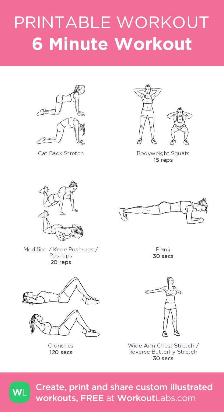 This is an image of Current Free Printable Workout Plans