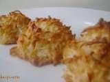 Recette ~ macarons à la noix de coco du chef michael smith~ , Très Facile, Dessert