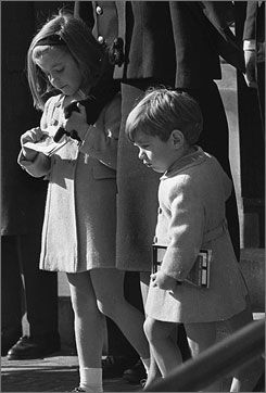 The Kennedy Family: Caroline and John John at the funeral of Pres. Kennedy.. I remember this all too well.