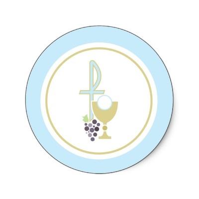 Primer sello del sobre de la comunión o pegatina d de Zazzle.com