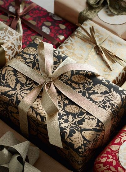Christmas Wrapping Paper Ribbons & Bags