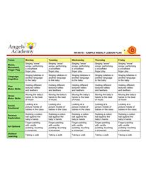 Infants activity plans search results calendar 2015 for Team lesson plan template tn