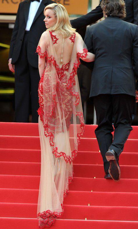marchesa: Cannes 2011, Cannes Film Festivals, Fashion Ideas, Red Lace, Fashion Style, Rachel Mcadams Cannes Jpg, The Dresses, De Marchesa, Lace Gowns