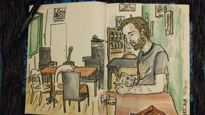 Urban Sketchers Portugal: ArtCasa Como não podia deixar de ser, desenhado num caderno Emilio Braga.