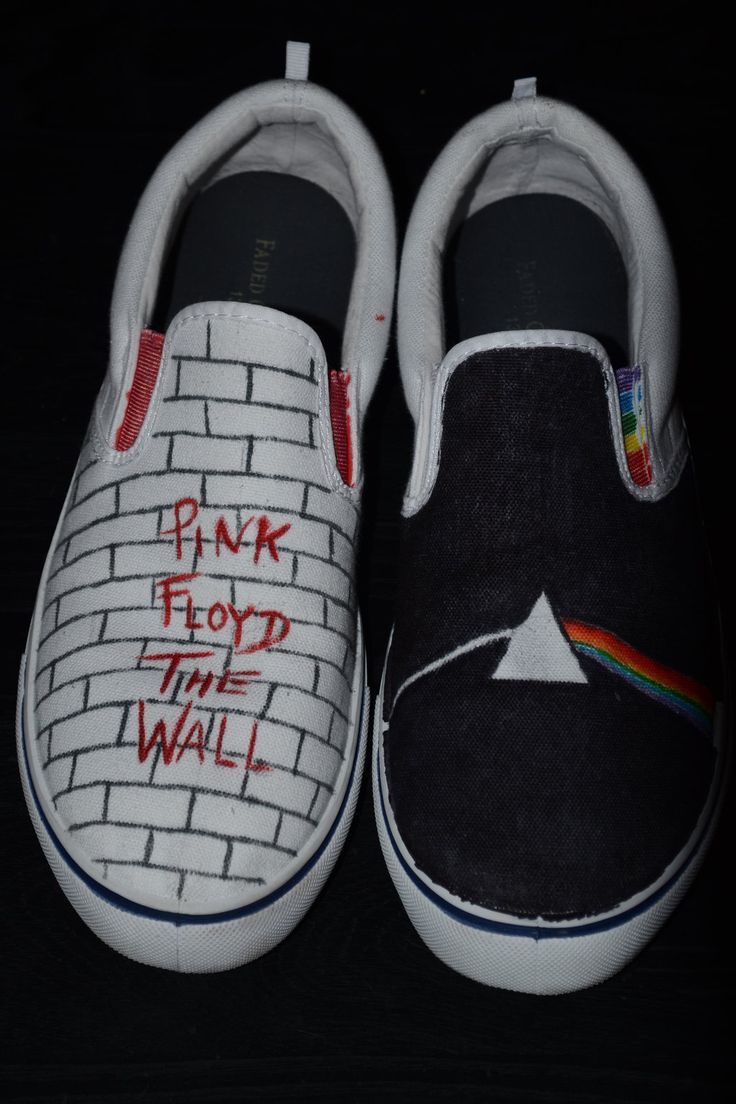 Pink Floyd Album Covers   Pink Floyd Album Cover Shoes by ~Uchua on deviantART