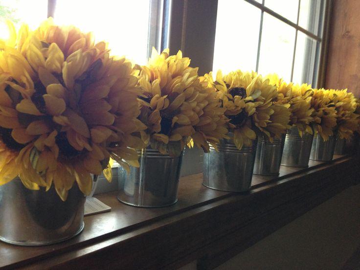 Best sunflower centerpieces ideas on pinterest