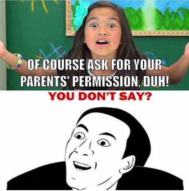 how to ask parents permission
