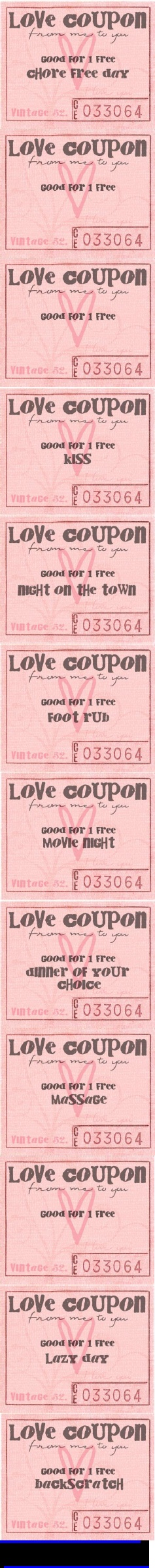 Best Love Coupons  Images On   Love Coupons Gift