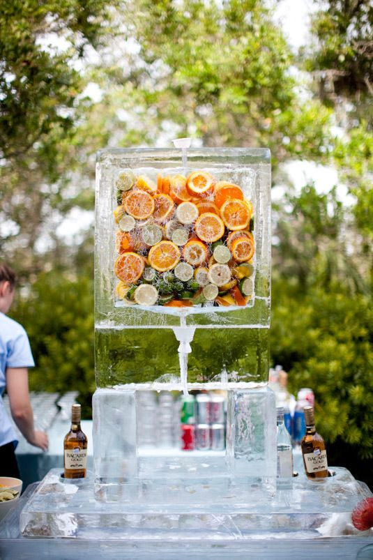 If you're thinking ice & not sure what kind of sculpture to go with: try a drink dispenser!