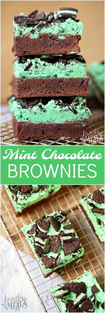 Mint Chocolate Brownies - Family Fresh Meals Recipe #familyfreshmeals #brownies #mint #mintchip #stpatricksday #dessert #killerbrownies #chocolatechip #recipe #recipeoftheday