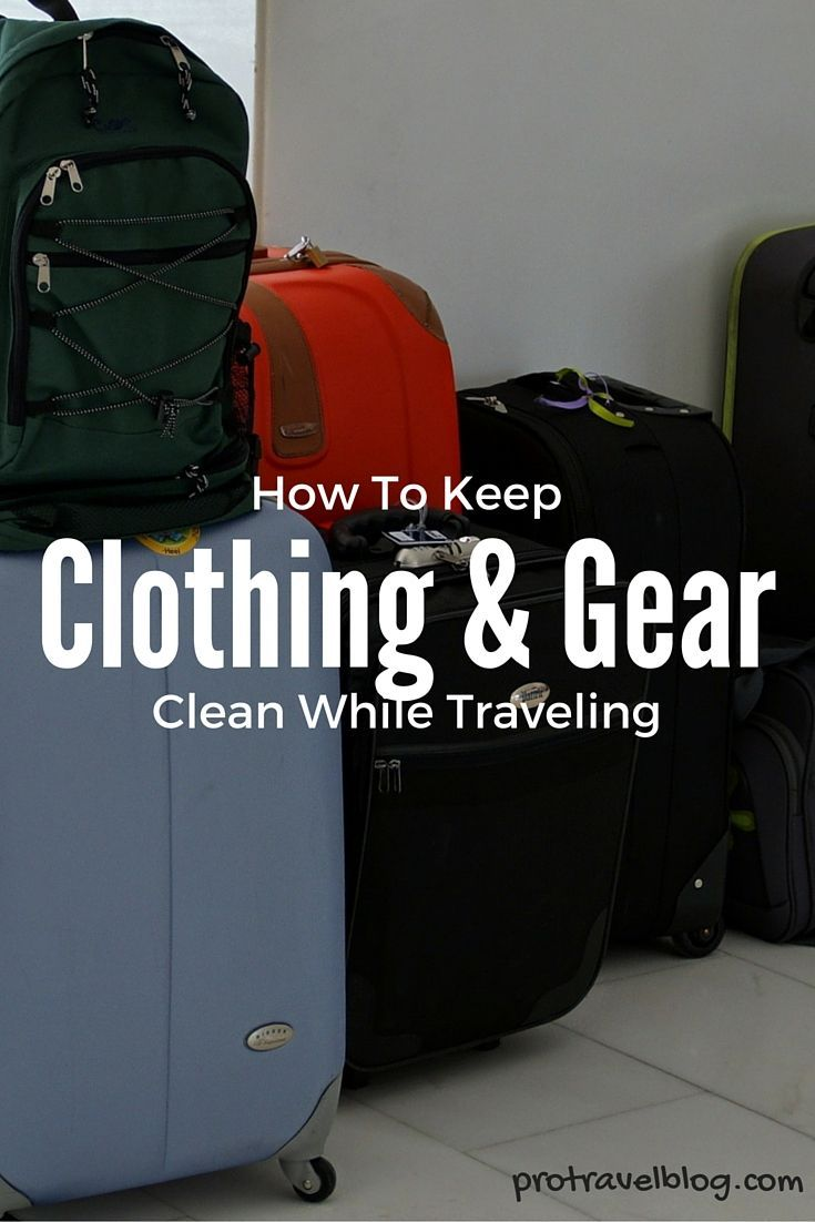 Learn how to keep your clothes and travel gear clean while you're on the road traveling the world!