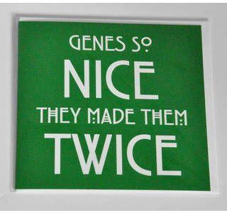 Twins Card - Genes so nice they made them twice