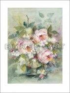 Tablou ''Trandafiri roz in vaza'' inramat