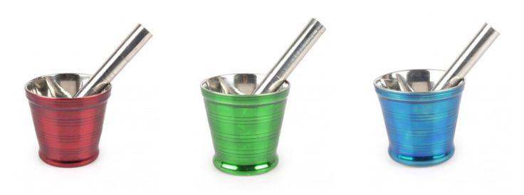 Mortar & Pestle, enamelled, stainless steel from Tiffinware