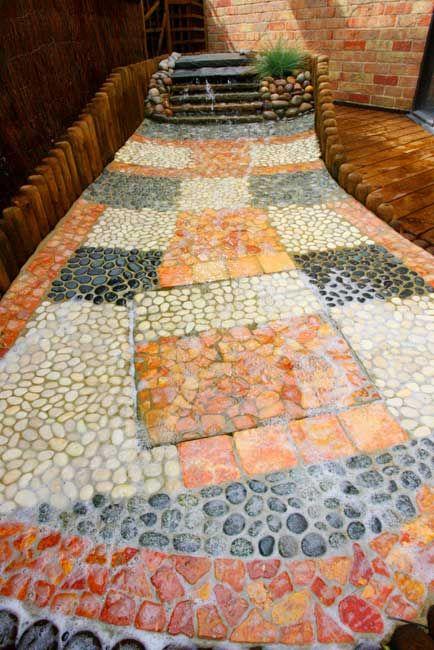 mosaic path #garden