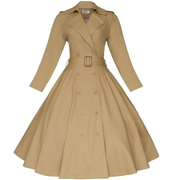 Maggie Tang Vintage Elegant Swing Coat Rockabilly Tunic Classical... ($60) ❤ liked on Polyvore featuring dresses, beige evening dress, evening cocktail dresses, beige cocktail dress, beige dress and special occasion dresses