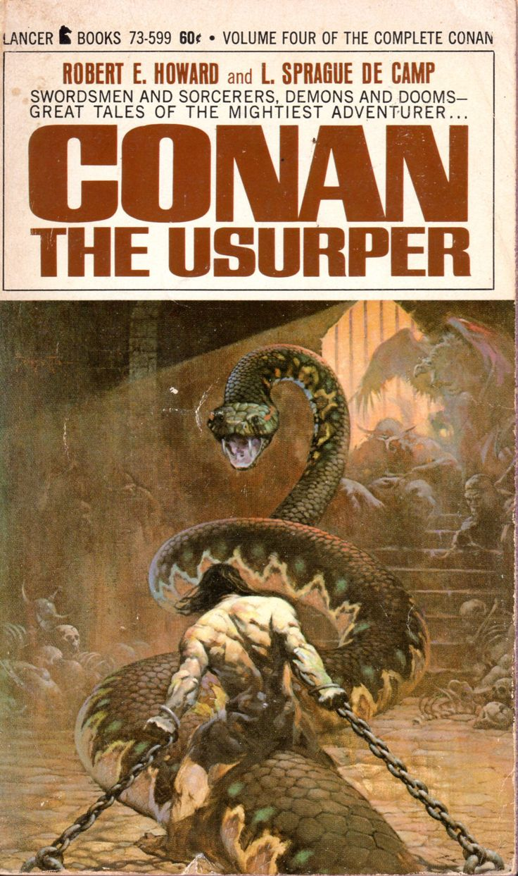 Conan the Usurper - Robert E. Howard and L. Sprague De Camp, cover by Frazetta