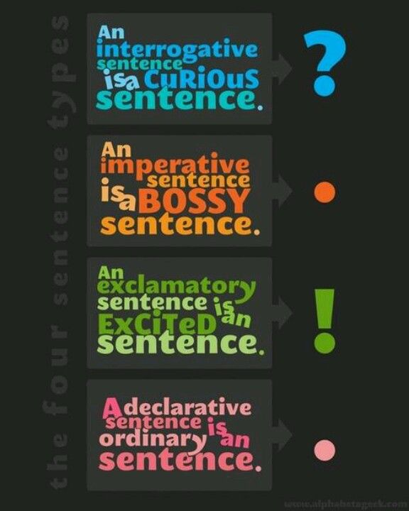 The Four Types of Sentences visual - CC Cycle 2 Week 15 English Grammar