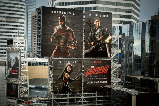 Netflix's Daredevil Characters Physically Damage Each Other's Billboards in Hashtag Fight | Adweek