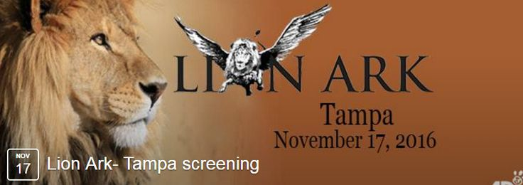 Join Howard and Carole and the Founders of ADI onNovember 17, 2016 at 7pm: Tampa, FL at Studio Movie Grill – Tampa — 12332 University Mall Ct., Tampa, FL 33612Ticket booking: Book online here: https://www.tugg.com/events/lion-ark-kte Here is the Facebook event page, if you are able to share: https://www.facebook.com/events/1013006455485101/
