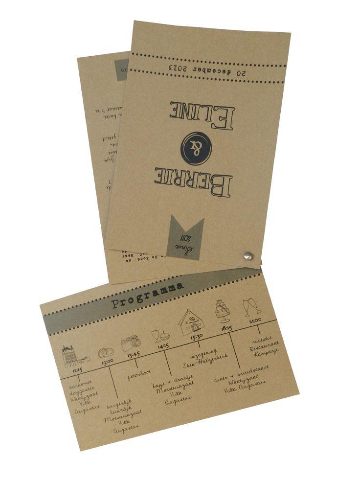 #vintage #kraftkaart #trouwkaart BY Huis & Grietje www.huisengrietje.nl