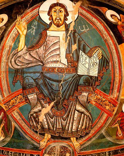 Una de les pintures murals més representatives del romànic procedent de l'església de Sant Climent de Taüll