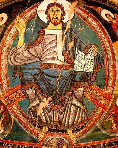 El Pantocrátor representa la imagen del Dios concebido en aquella época. En ella, representaban al Todopoderoso, al Padre y al Hijo.