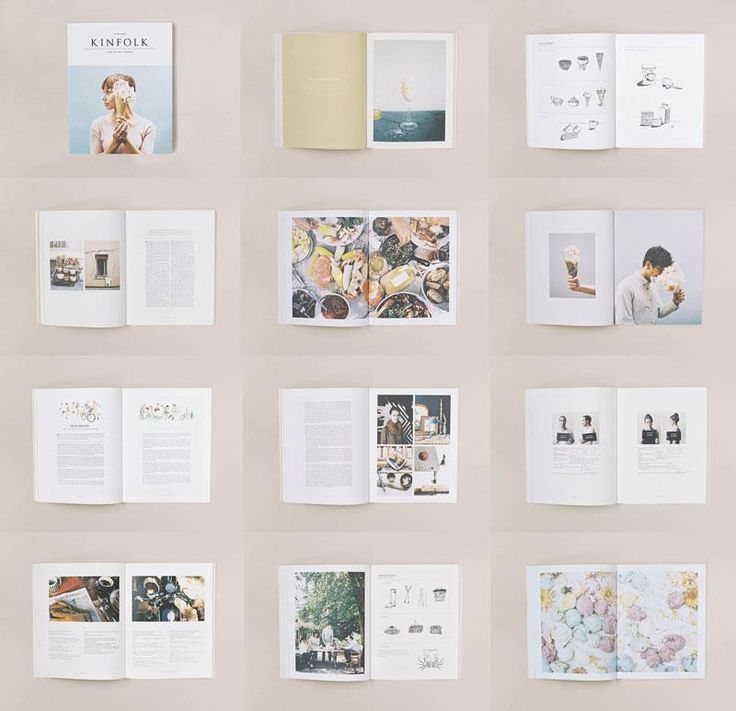 Kinfolk's appeal lies in its alluring simplicity. Generous full page spreads, occasional use of ink illustrations, off-white paper to create slightly desaturated but homely photos.
