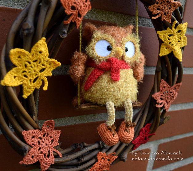 """Herbstkranz """"Laubfal"""" - ein Designerstück von Owl Tales bei DaWanda"""